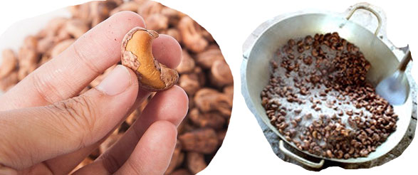 cách rang hạt điều với muối